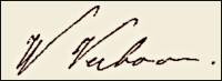 Handtekening Willem VERBOVE