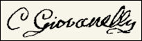 Handtekening Charles Alexander GIOVANELLI