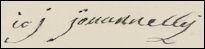 Handtekening Jacques Philippe Joseph GIOVANELLI
