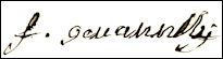 Handtekening François GIOVANELLI