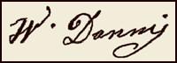 Handtekening Wilhelmina DANNIS