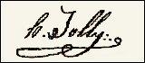 Handtekening Henry Guislain Léopold JOLLY