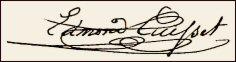 Handtekening Edmond CUISSET