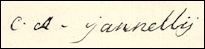 Handtekening Charles Alexandre GIOVANELLI