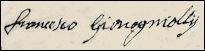 Handtekening Francesco GIOVANELLI