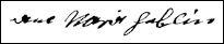 Handtekening Anne Marie HEVERLIN